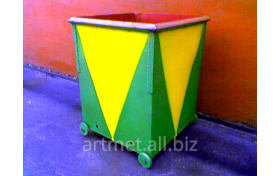 Container metalic pentru deşeuri menagere