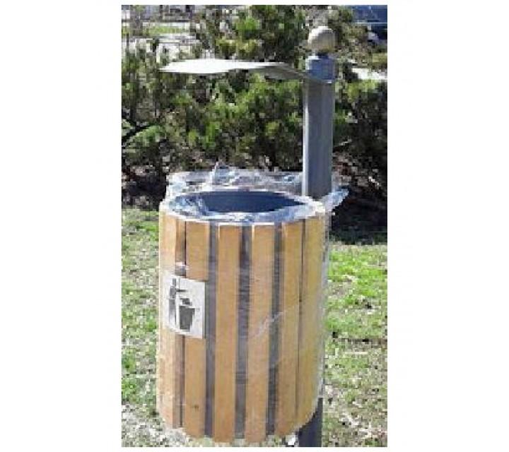 Cos pentru gunoi nr.38 (ornamentat cu lemn, pentru betonare)