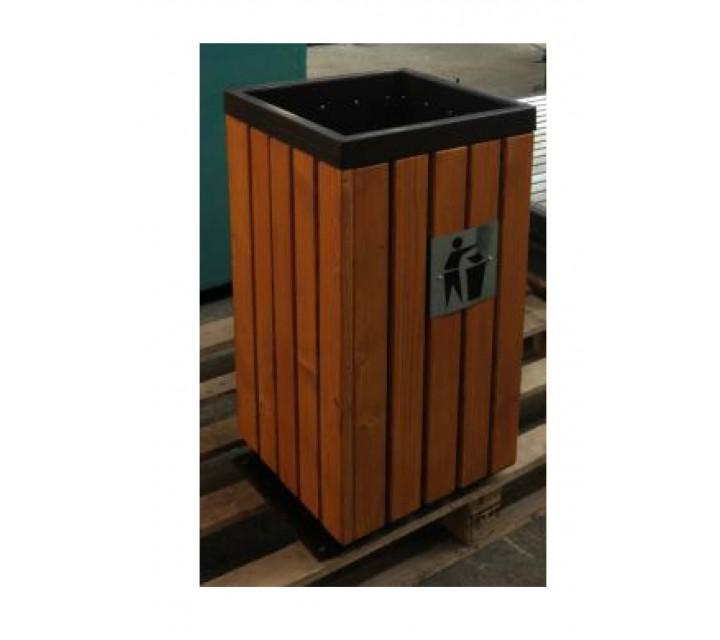Cos pentru gunoi nr.42 ornamentat cu lemn